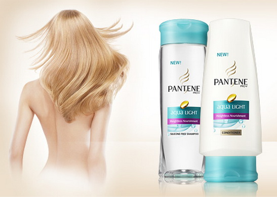 models for Pantene Aqua Light